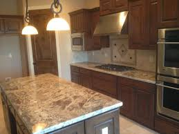 granite countertop kitchen dark cabinets light granite