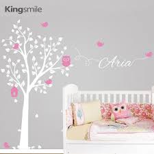 Owl Nursery Wall Decals by Aliexpress Com Buy Owl Tree Branches Personalized Name Birds