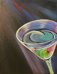 martini painting cindy u0027s gallery