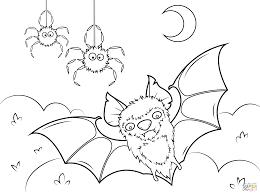 halloween bat png bat and spiders coloring page free printable coloring pages