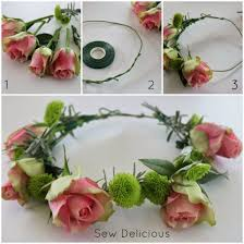 diy floral crown tutorial sew delicious