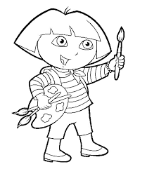 surprising dora christmas coloring pages with dora the explorer