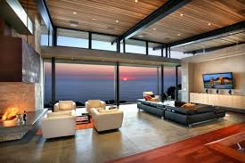 Calm Colors For Living Room Relaxing Living Room With Neutral Sofa Color And Panoramic Ocean