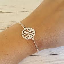 Monogram Bracelet Silver Personalized Monogram Bracelet Silver Bracelet Personalized