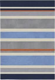 Grey And Orange Rug District17 Gray Blue Stripes Rug Striped Rugs