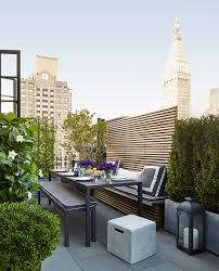 contemporary candle deck contemporary with table setting outdoor