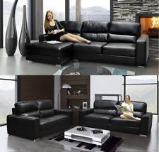 Black Leather Sofas Leather Sofa Ebay