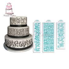 aliexpress com buy 3pcs butterfly stencil for cake wedding cake