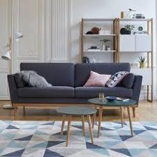 canap style e 50 canapé 2 places scandinave milo tissu gris anthracite salons