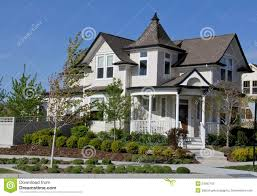 Victorian House Style Victorian House By The Lake Stock Image Image 1354721