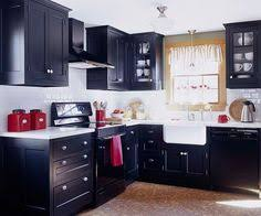 Red And Black Kitchen Cabinets by Black Kitchen Cabinets Marble Benchtop Rug Kitchen Love