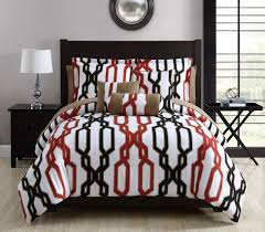 Red And White Comforter Sets 10 Piece Matt Red Black White Comforter Set