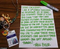 tulsa teacher melissa bour u0027s letter shows students why not to post