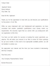 declination letter template letter of recommendation