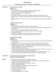 resume sle of accounting clerk test speed receptionist clerk resume sles velvet jobs