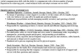Machine Operator Sample Resume by Machine Operator Objective For Resume Reentrycorps