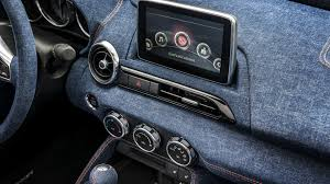 mazda roadster interior mazda mx 5 gets denim interior from garage italia customs result