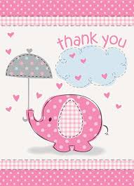 amazon com umbrella elephant baby shower thank you notes w