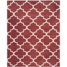 Rose Area Rug Red 8 X 10 Shag Area Rugs Rugs The Home Depot