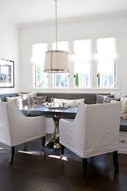 Slipcovers Dining Chairs Monogrammed Slipcovered Chairs Transitional Dining Room