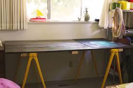 Diy Desk Design by Sawhorse Desk Design Best Home Furniture Decoration
