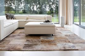 Patchwork Cowhide Contemporary Rug Patchwork Cowhide Rectangular Pinto