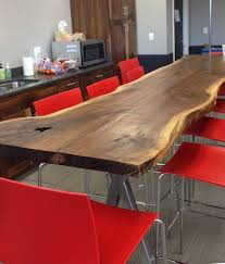 reclaimed oak walnut slab table live edge harvard university