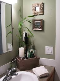 Small Bathroom Paint Ideas Spa Like Feel In The Guest Bathroom The Fresh Green Color Makes