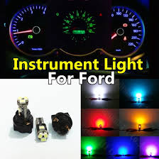 2010 ford fusion dash lights 10pieces yellow white red blue pink green ice blue t5 dashboard led