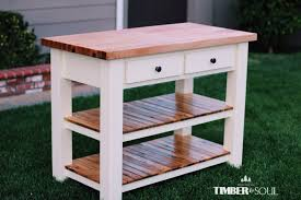 Kitchen Island Building Plans White Butcher Block Kitchen Island Diy Projects