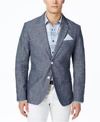 tasso elba men s chambray blazer only at macy s blazers sport