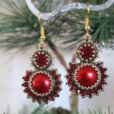 beading kit for earrings u0027decadence u0027 christmas trinkets beading