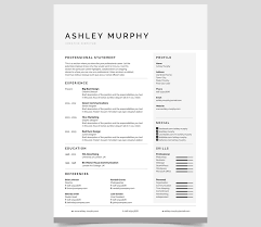 Modern Resume Samples by Business Resume Template Word Modern Business Resume Template 30
