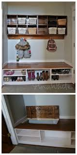 mudroom locker plans diy flip up mudroom storage bench boots in the back shoes in the