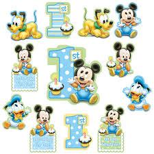 baby mickey 1st birthday disney mickey 1st birthday cutouts birthdayexpress