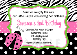 printable birthday invitations ladybug first party pink ladybugs