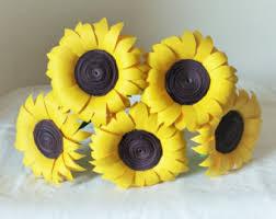 Sunflower Home Decor Paper Sunflower Etsy
