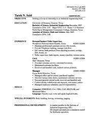 Teller Resume Bank Teller Resume Objective Best Business Template