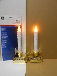 battery operated window lights set of 2 ge led flameless flickering window candles timer battery