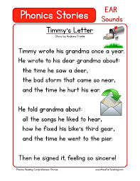 this reading comprehension worksheet timmy u0027s letter is for