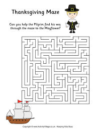 thanksgiving mazes