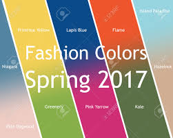 2017 Fashion Color Blurred Fashion Infographic With Trendy Colors Of The 2017 Spring