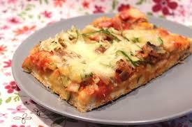 cuisiner une pizza pizza à la courgette jambon chignons tomates séchées