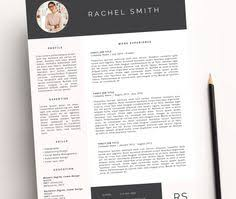 modern microsoft word resume and cover letter template fahma