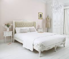 Provencal Upholstered Velvet French Bed Traditional Bedroom - Bedroom company