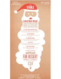 christmas menu sample template free download