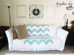 Bed Bath And Beyond Slipcovers How To Make A Slipcover Part 2 Slipcover Reveal Honeybear Lane