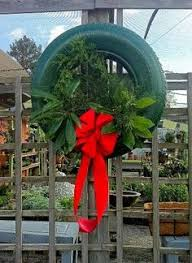 tire wreath an firestone tire for an fashioned