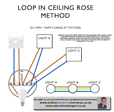 wiring a ceiling rose how to