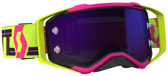 pink motocross goggles 2018 scott prospect goggle pink yellow purple chrome lens